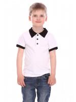 Футболка «Вайрес» белого цвета с черным