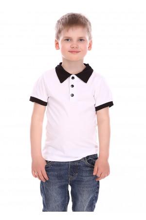 Футболка «Вайрес» білого кольору з чорним