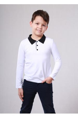 Футболка «Дерби» белого цвета с черным