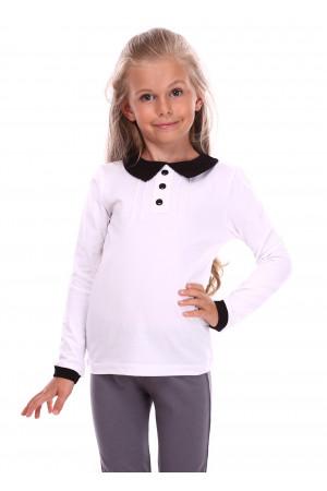 Джемпер «Вандей» белого цвета с черным