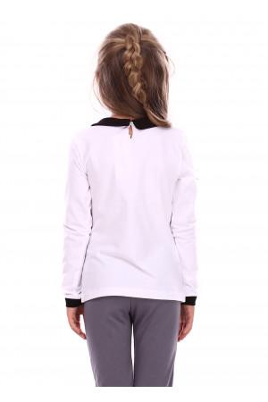 Джемпер «Вандей» білого кольору з чорним