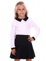 Джемпер «Дерит» белого цвета с черным