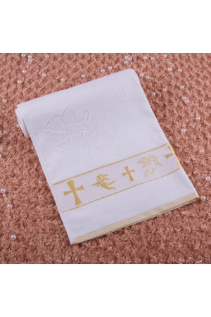 Крижма-рушник «Хрещення» білого кольору