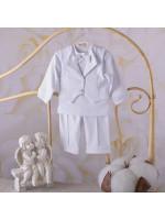 Костюм для хрещення «Міні-бос» білого кольору ДР