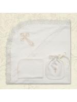 Крижма «Хрестильна скринька» молочного кольору