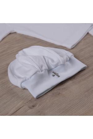 Костюм для хрещення «Святік-2» з білого велюру