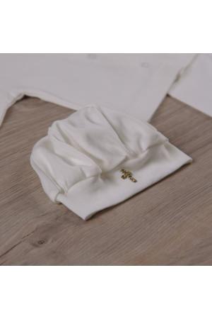 Костюм для хрещення «Святік-2» з молочного трикотажу