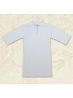 Сорочка для крещения «Кристиан» белого цвета с длинным рукавом