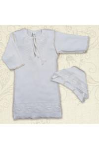 Сорочка для крещения «Яночка-2» молочного цвета
