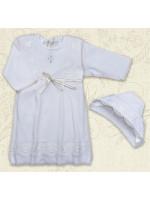 Сорочка для крещения «Кристина-2» белого цвета