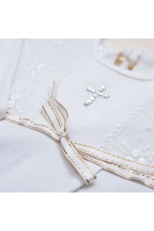 Сорочка для хрещення «Христина-2» білого кольору