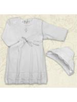 Сорочка для крещения «Кристина-2» молочного цвета
