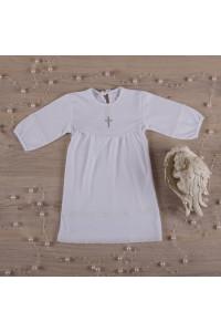 Сорочка для крещения «Полиночка» белого цвета