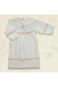 Сорочка для крещения «Полиночка» молочного цвета