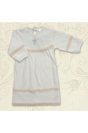 Сорочка для хрещення «Поліночка» молочного кольору