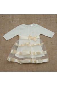 Платье «Маленькая леди» молочного цвета