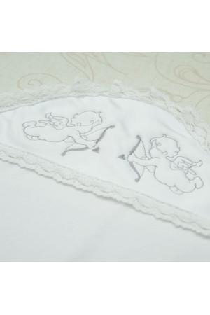 Крижма «Святість» з атласу білого кольору