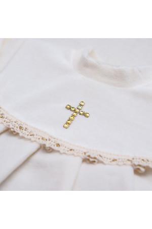 Костюм для хрещення «Марія» з велюру білого кольору