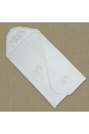 Крижма «Святість» з велюру білого кольору