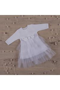 Платье «Нежность» белого цвета