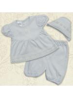 Костюм для крещения девочки «Вдохновение» белого цвета с коротким рукавом