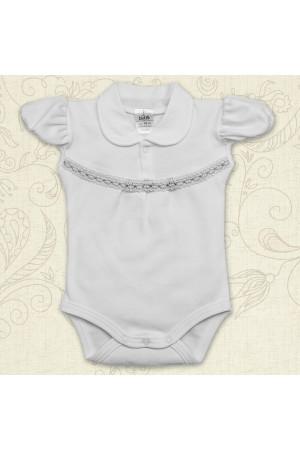 Боді для дівчинки «Свято» білого кольору з коротким рукавом