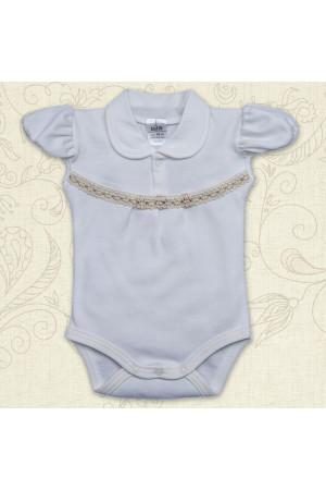 Боді для дівчинки «Свято» молочного кольору з коротким рукавом