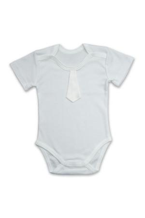 Боді для хлопчика «Святковий» білого кольору з коротким рукавом
