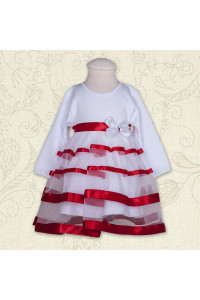 Платье «Маленькая леди» красного цвета