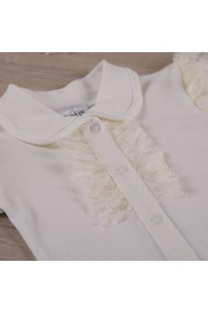 Боді «Мрія» молочного кольору з коротким рукавом
