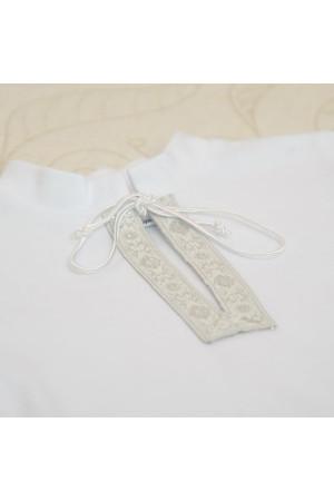 Сорочка для хрещення «Крістіан-2» біла зі сріблястим