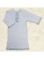 Сорочка для хрещення «Крістіан-2» біла з блакитним