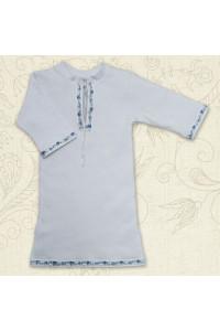 Сорочка для крещения «Кристиан-2» белая с голубым