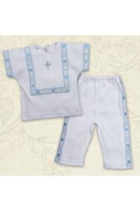 Костюм для хрещення «Промінчик» білий з блакитним