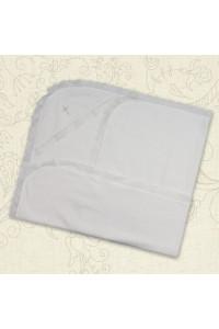 Крижма «Сонечко» білого кольору, розмір 75х100 см
