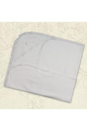 Крижма «Сонечко» білого кольору, розмір 75х80