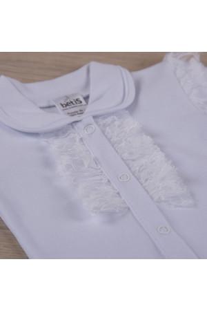 Боді «Мрія» білого кольору з довгим рукавом