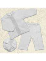Костюм для крещения мальчика «Вдохновение» белого цвета