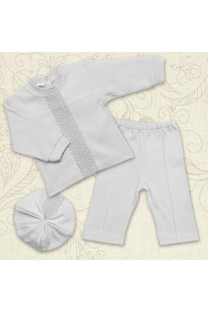 Костюм для хрещення хлопчика «Натхнення» білого кольору