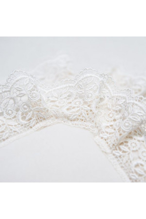 Ковдра «Ажур» білого кольору