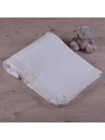 Одеяло «Ажур» молочного цвета