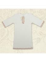 Сорочка для крещения «Кристиан-2» белая с красным