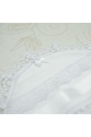 Крижма «Діва Марія» білого кольору