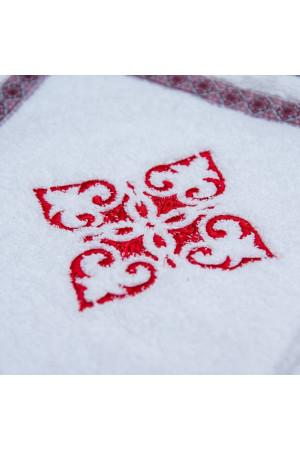 Крижма «Українська» з червоною вишивкою