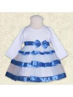 Платье «Маленькая леди» голубого цвета