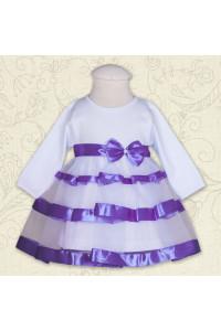 Платье «Маленькая леди» фиолетового цвета