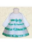 Сукня «Маленька леді» бірюзового кольору