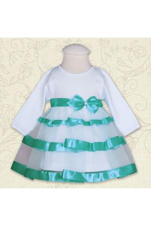 Платье «Маленькая леди» бирюзового цвета