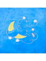 Ковдра «Ведмедик» блакитного кольору