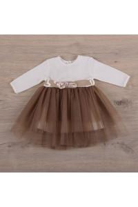 Платье «Нежность 2» кофейного цвета